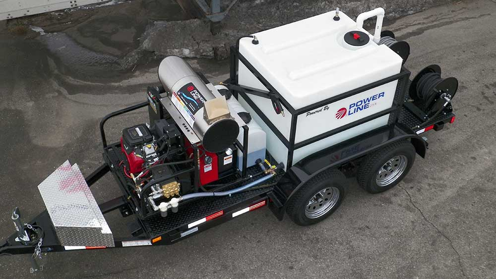 Pressure Washer Trailer Mounted Mobile Power Wash System